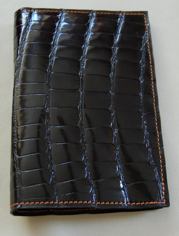Porte feuille en cuir de crocodile